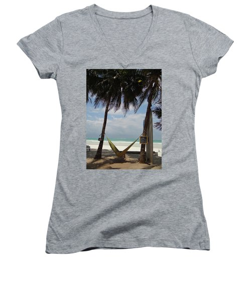 Hammock Time Women's V-Neck T-Shirt