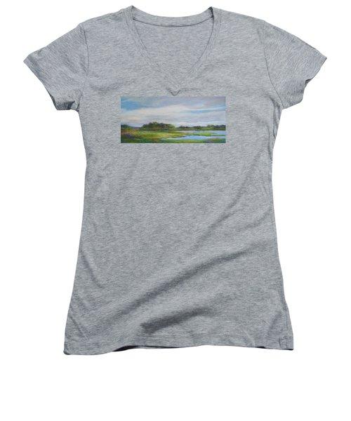 Hammonassett Sky Women's V-Neck T-Shirt