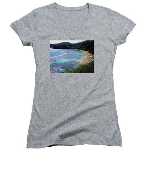 Hanauma Bay Women's V-Neck T-Shirt