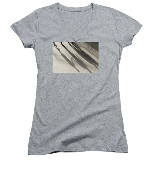 Hand In Hand Women's V-Neck T-Shirt (Junior Cut) by Prakash Ghai