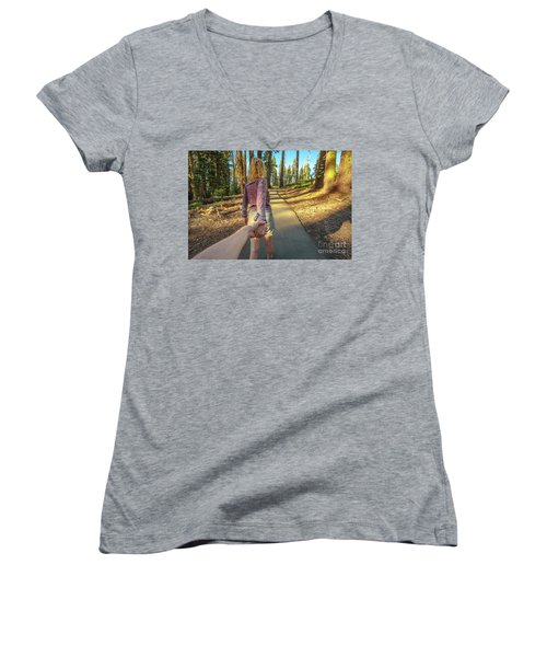 Hand In Hand Sequoia Hiking Women's V-Neck (Athletic Fit)