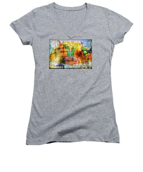 Handheld Fan Women's V-Neck T-Shirt