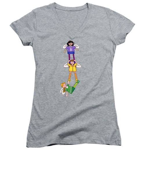 Hang In There Women's V-Neck