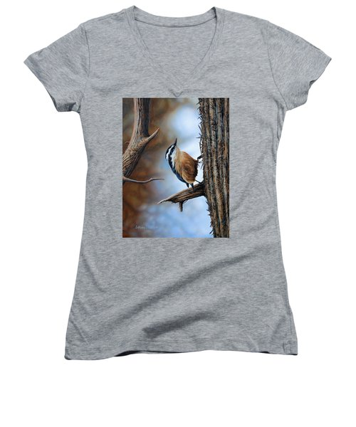 Hangin Out - Nuthatch Women's V-Neck