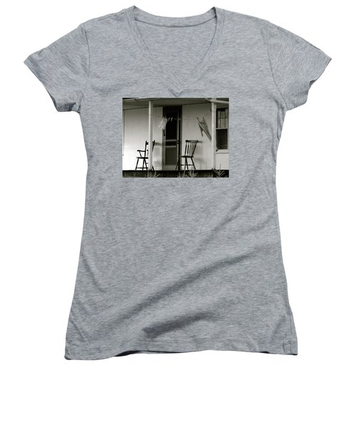 Hanging Out On The Porch Women's V-Neck T-Shirt