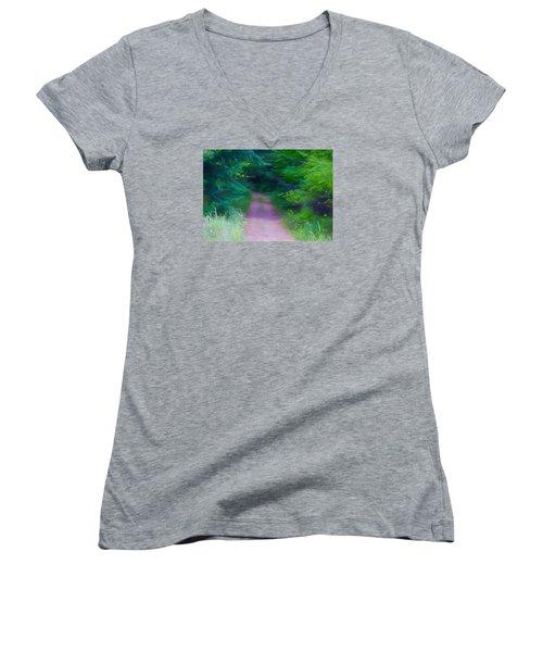 Hansel And Grettel Women's V-Neck T-Shirt (Junior Cut) by Susan Crossman Buscho