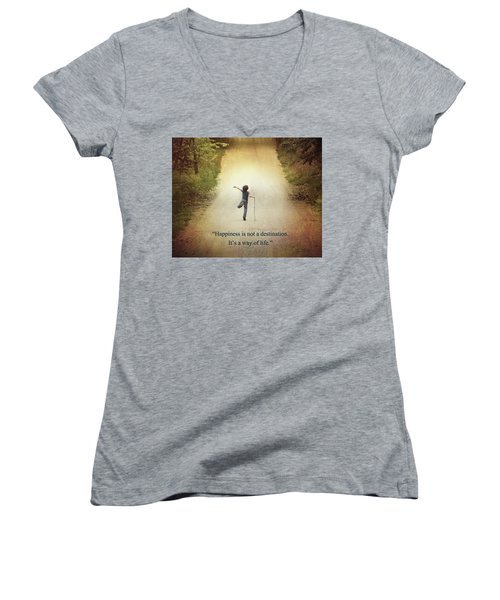 Happiness Women's V-Neck