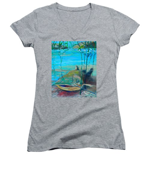 Happy Catfish Women's V-Neck (Athletic Fit)