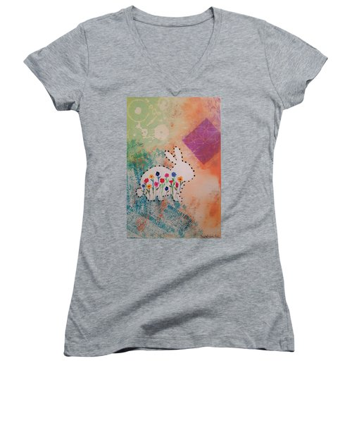Happy Garden Women's V-Neck T-Shirt
