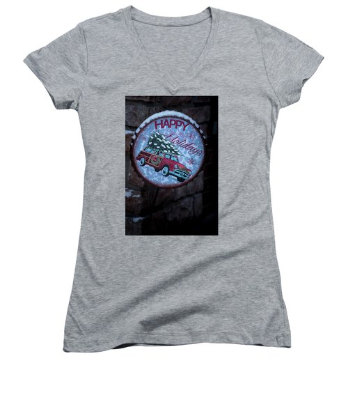 Happy Holidays Women's V-Neck