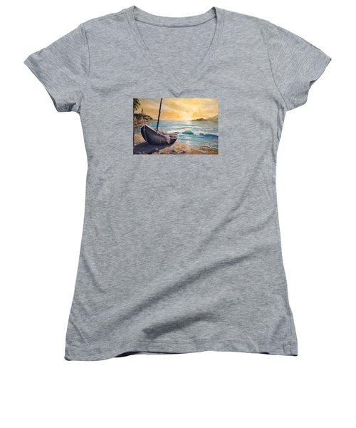 Happy Hour Women's V-Neck T-Shirt