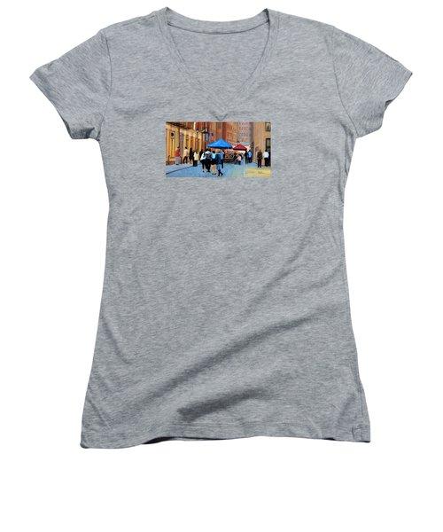 Happy Hour On Stone St. Nyc Women's V-Neck T-Shirt