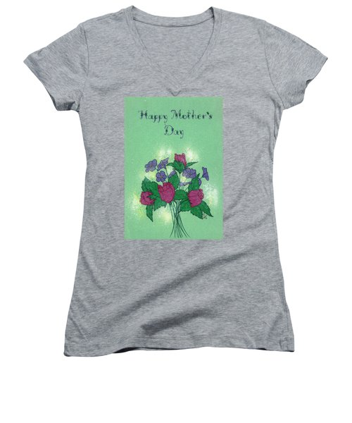 Happy Mother's Day  Women's V-Neck (Athletic Fit)