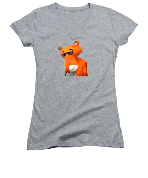 Happy Panther Women's V-Neck T-Shirt