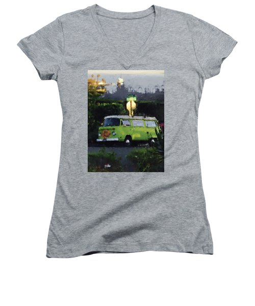 Happy Vw Women's V-Neck T-Shirt