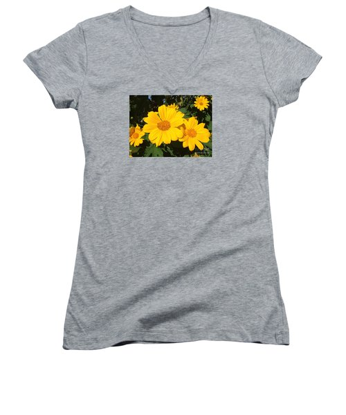 Happy Yellow Women's V-Neck (Athletic Fit)
