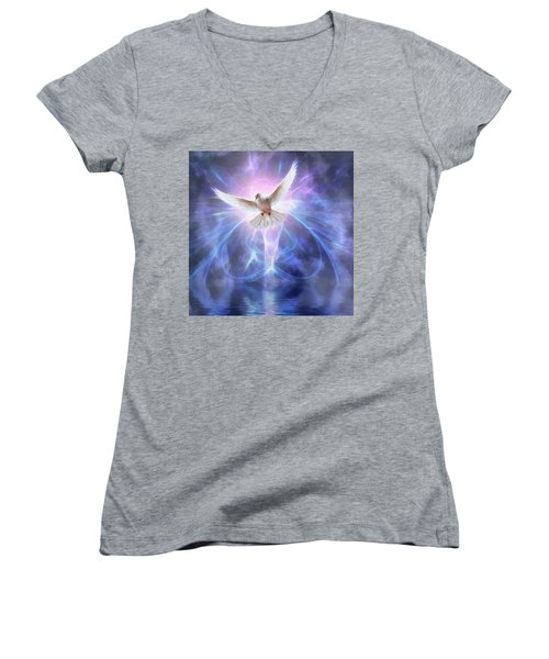 Harbinger II #fantasy #fantasyart Women's V-Neck T-Shirt