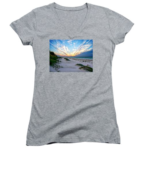Harbor Island Sunset Women's V-Neck