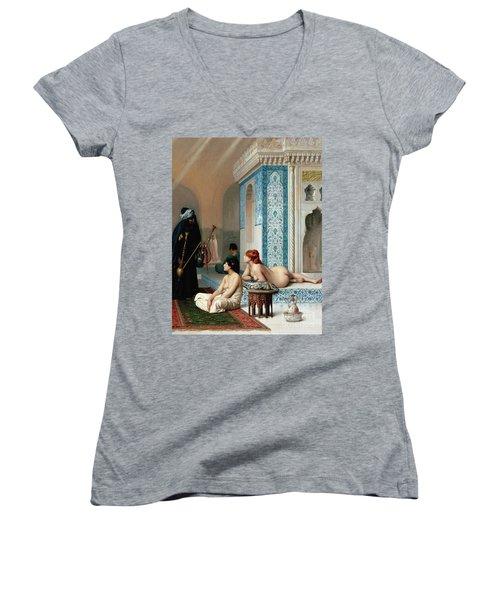 Harem Pool, Jean-leon Gerome Women's V-Neck T-Shirt