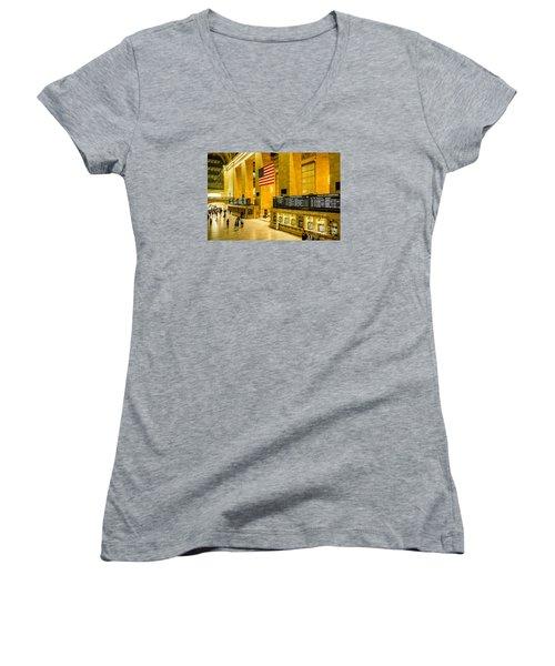 Grand Central Pride Women's V-Neck T-Shirt