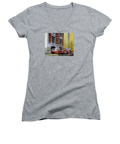 Harlem Hilton Women's V-Neck T-Shirt