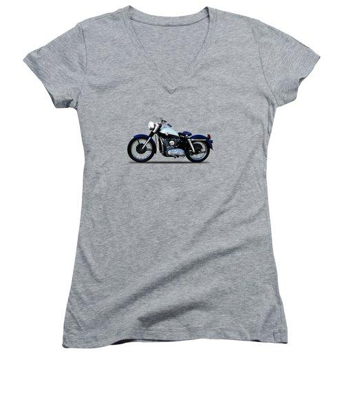 Harley Davidson Sportster 1957 Women's V-Neck (Athletic Fit)