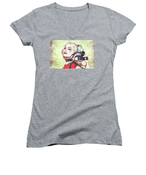Harley Is A Crazy Woman Women's V-Neck T-Shirt