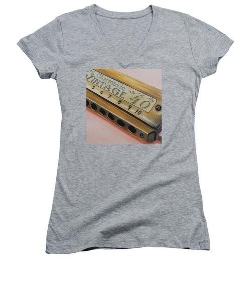 Harmonica Women's V-Neck