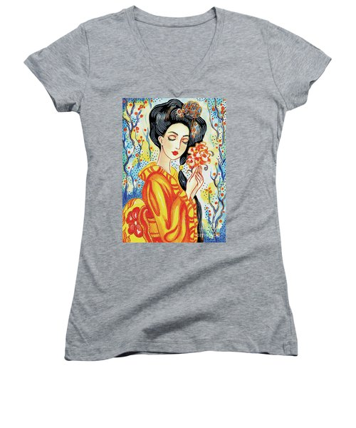 Harmony Flower Women's V-Neck