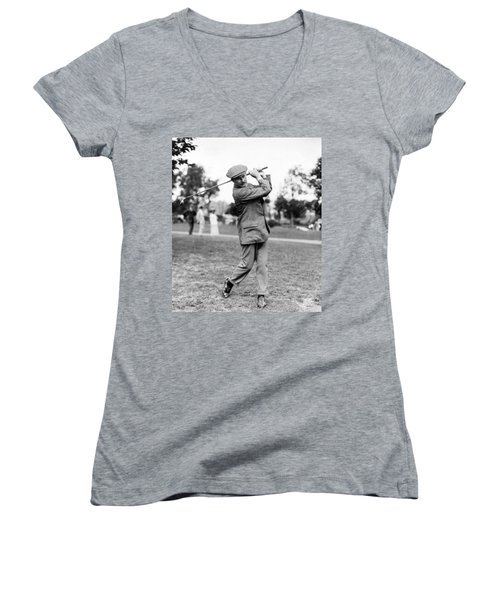 Harry Vardon - Golfer Women's V-Neck (Athletic Fit)