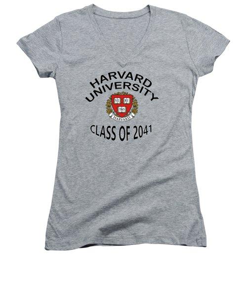 Harvard University Class Of 2041 Women's V-Neck (Athletic Fit)