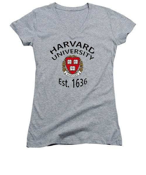 Harvard University Est 1636 Women's V-Neck (Athletic Fit)