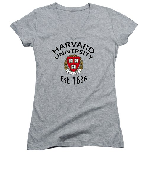 Harvard University Est 1636 Women's V-Neck