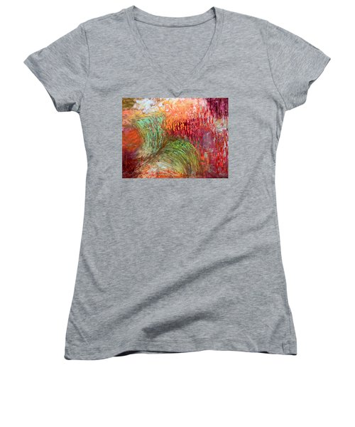 Harvest Abstract Women's V-Neck (Athletic Fit)