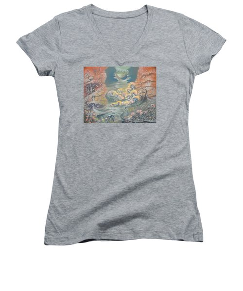 Harvest Moons Women's V-Neck T-Shirt
