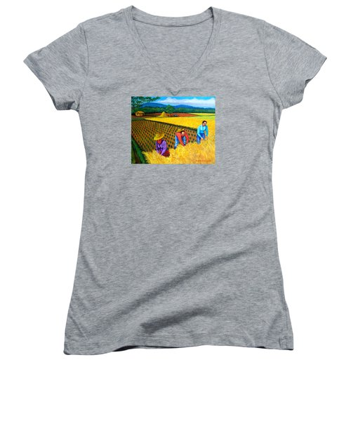 Harvest Season Women's V-Neck T-Shirt