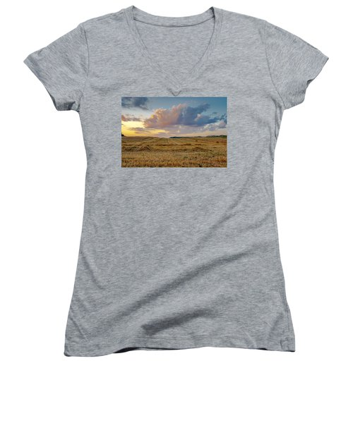 Harvest Time Women's V-Neck T-Shirt