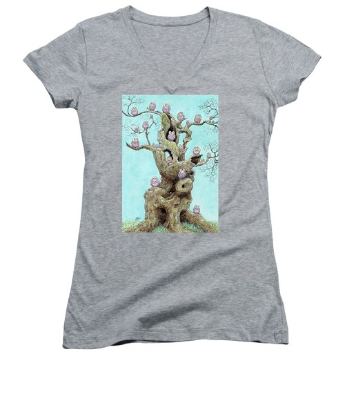 Hatchlings Women's V-Neck T-Shirt (Junior Cut) by Charles Cater