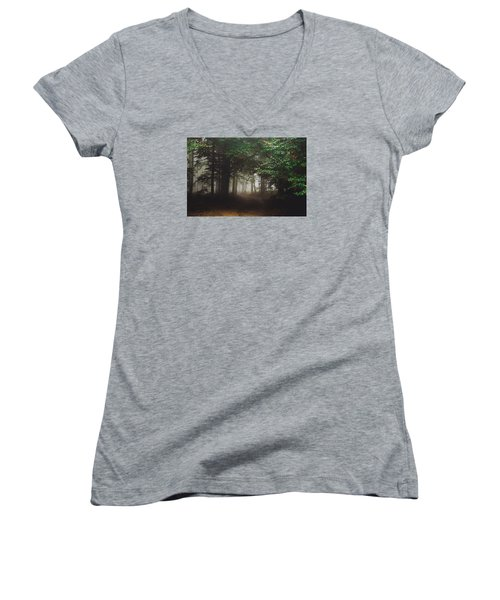 Haunted Forest #2 Women's V-Neck (Athletic Fit)