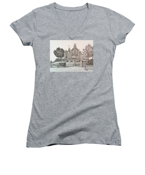 Haunted Mansion  Women's V-Neck (Athletic Fit)