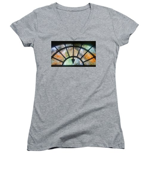 Haunted Window Women's V-Neck (Athletic Fit)