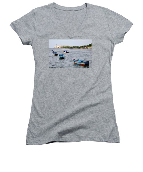 Havana Harbor Women's V-Neck (Athletic Fit)