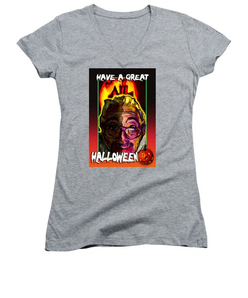 Have A Great Halloween Women's V-Neck T-Shirt (Junior Cut) by Ted Azriel