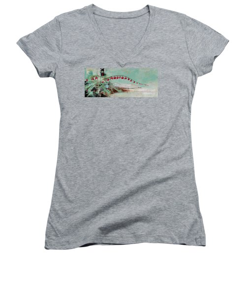 Have We Become Comfortably Numb Women's V-Neck T-Shirt (Junior Cut) by Frances Marino