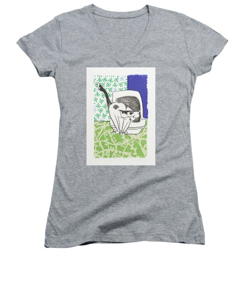 Have You Even Seen The Litter Women's V-Neck T-Shirt (Junior Cut) by Leela Payne