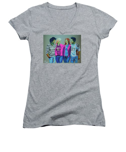 Having Fun Women's V-Neck T-Shirt