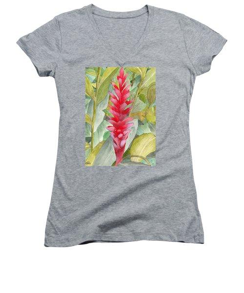 Hawaiian Beauty Women's V-Neck T-Shirt