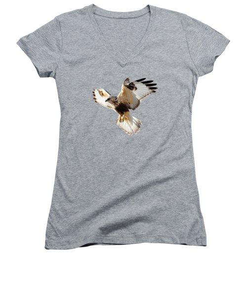 Hawk T-shirt Women's V-Neck