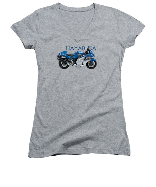 Hayabusa In Blue Women's V-Neck T-Shirt