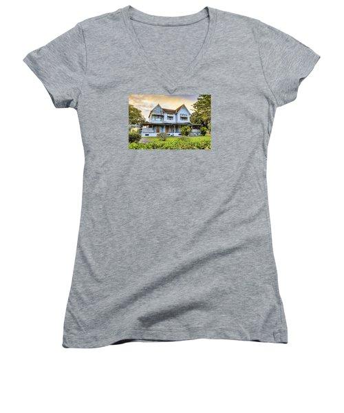 Hayes Court Women's V-Neck T-Shirt (Junior Cut) by Nadia Sanowar